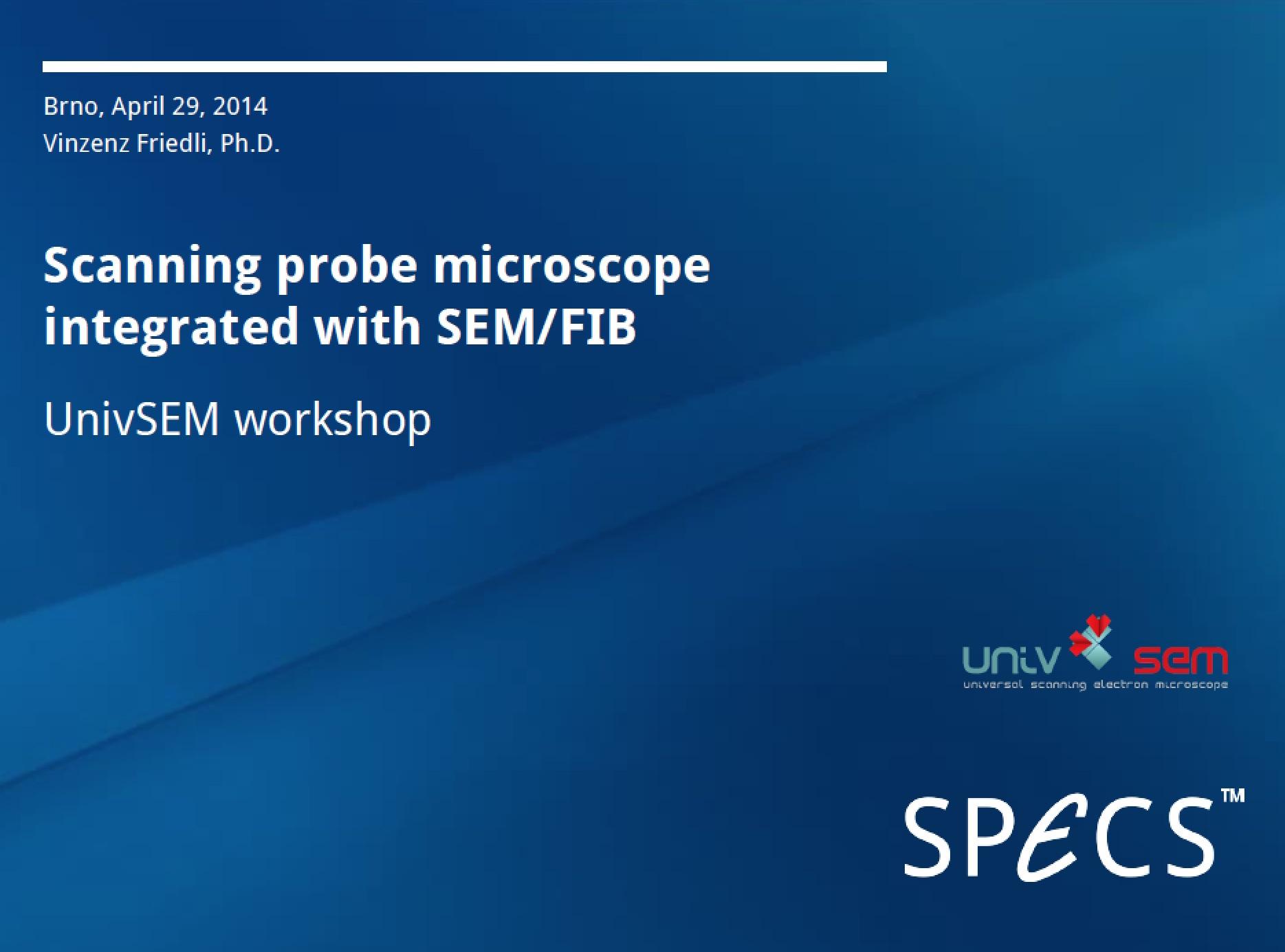 SPECS cover presentation